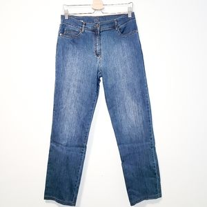 BRAX Shakira Cotton Blend Straight Leg Blue Jeans